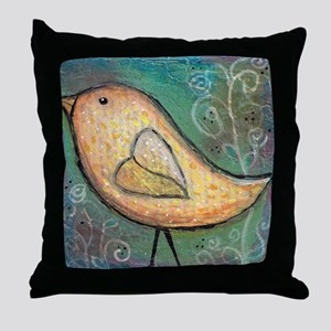 Summer Bird Throw Pillow