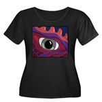 CREATURE VIEW #4 Women's Plus Size Scoop Neck Dark
