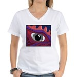 CREATURE VIEW #4 Women's V-Neck T-Shirt