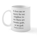 Jefferson on tolerance Mug
