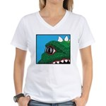 CREATURE VIEW #3 Women's V-Neck T-Shirt