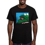 CREATURE VIEW #3 Men's Fitted T-Shirt (dark)