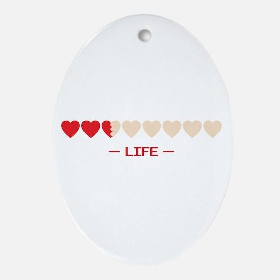 life bar Oval Ornament