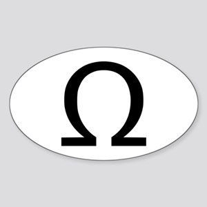 Omega Oval Sticker