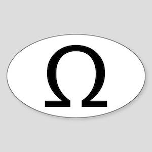 Omega Oval Sticker