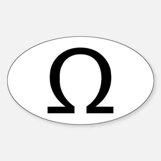 Omega Oval Decal