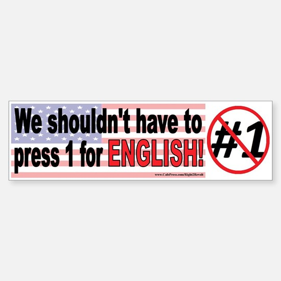 1 for English? (sticker)