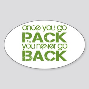 Once you go Pack ... Oval Sticker