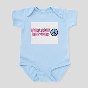MAKE LOVE NOT WAR BUMPER STIC Infant Creeper