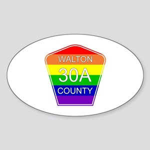Rainbow 30A Oval Sticker
