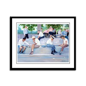 Chess Players Framed Panel Print