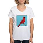 CARDINAL Women's V-Neck T-Shirt