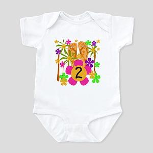 Luau 2nd Birthday Infant Creeper