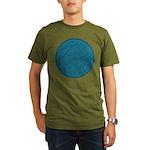 Scribble Circle Organic Men's T-Shirt (dark)