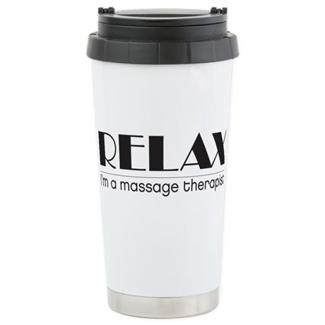 Relax I'm a Massage Therapist Stainless Steel Trav