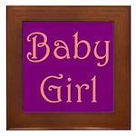 Baby Girl's Room Framed Tile