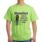 Shovel Ready Care Green T-Shirt