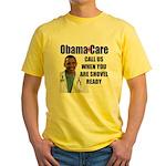 Shovel Ready Care Yellow T-Shirt