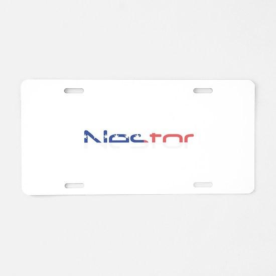 Nestor Aluminum License Plate