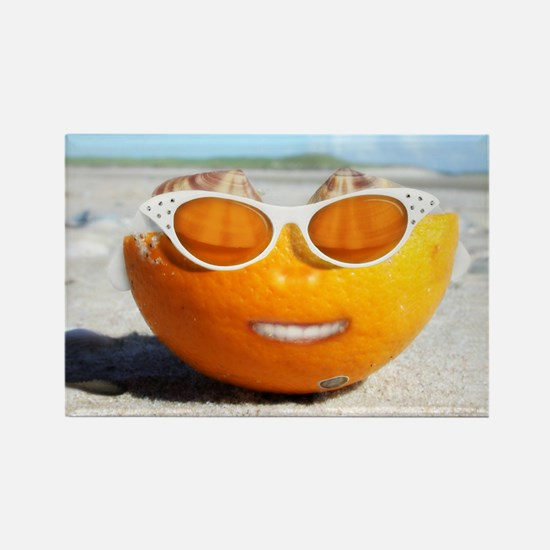 Funny Smiling sun Rectangle Magnet
