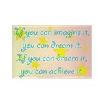 Imagine Dream Achieve Rectangle Magnet (100 pack)