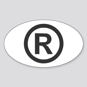 Registered Oval Sticker