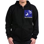 Hunt Fish Zip Hoodie (dark)