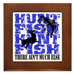 Hunt Fish Framed Tile