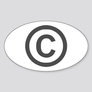 Copyright Oval Sticker