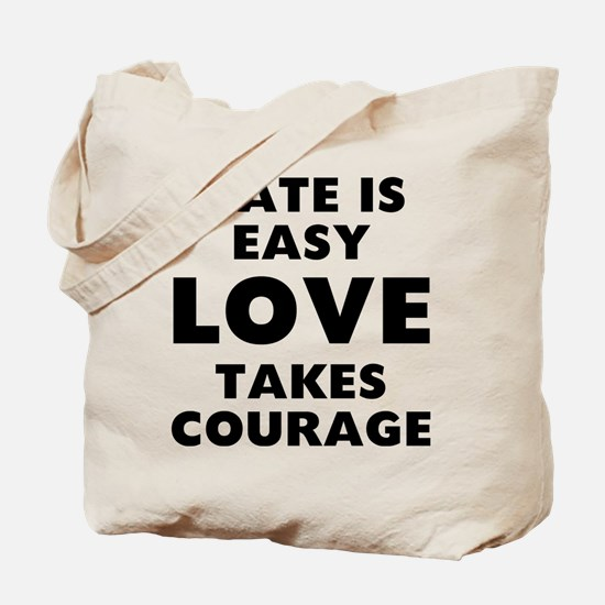 Hate Love Tote Bag