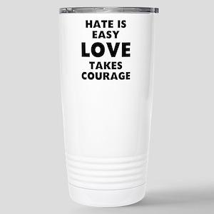 Hate Love 16 oz Stainless Steel Travel Mug