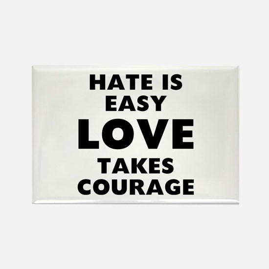 Hate Love Rectangle Magnet