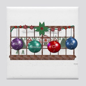 CHRISTMAS BALLS Tile Coaster