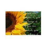 Imagine Dream Achieve Flower Rectangle Magnet (100