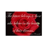 The Future Belongs Flower Rectangle Magnet