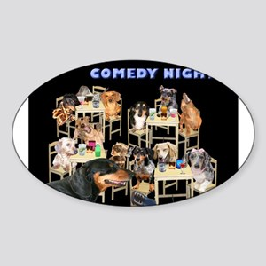 Comedy Oval Sticker