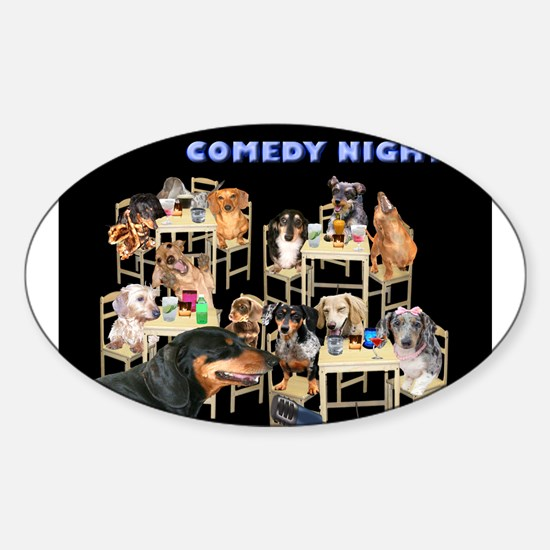Comedy Oval Decal