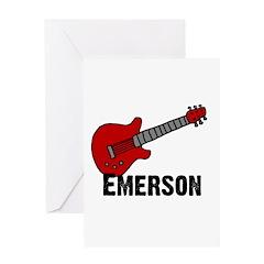 Guitar - Emerson Greeting Card