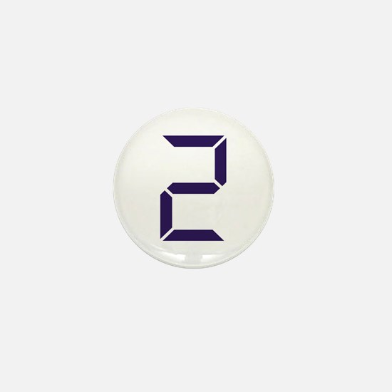 Number - Two - 2 Mini Button