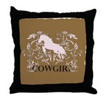 Fancy Cowgirl Throw Pillow