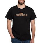 """""""Fire Department"""" Black T-Shirt"""
