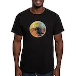 XmasMusic3/Horse (Ar-blk) Men's Fitted T-Shirt (da