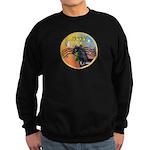 XmasMusic3/Horse (Ar-blk) Sweatshirt (dark)
