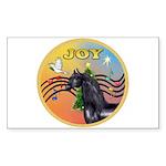 XmasMusic3/Horse (Ar-blk) Rectangle Sticker 10 pk