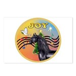 XmasMusic3/Horse (Ar-blk) Postcards (Package of 8)