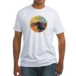 XmasMusic3/Horse (Ar-blk) Fitted T-Shirt