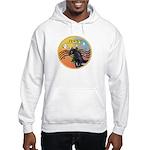 XmasMusic3/Horse (Ar-blk) Hooded Sweatshirt