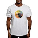 XmasMusic3/Horse (Ar-blk) Light T-Shirt