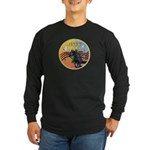 XmasMusic3/Horse (Ar-blk) Long Sleeve Dark T-Shirt