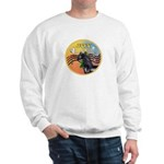 XmasMusic3/Horse (Ar-blk) Sweatshirt